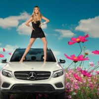 Doutzen Kroes en Mercedes-Benz GLC